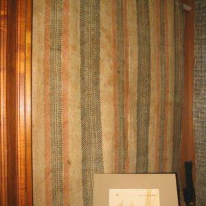 Ancient Hawaiian kapa (bark cloth) on display at Bishop Museum