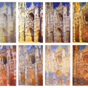 Rouen Cathedral paintings by Claude Monet