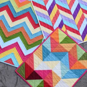 3 miniquilts modern by The Cloth Parcel