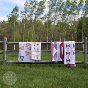 4 quilts realizzati con filati e tessuti collezione Improv by Alison Glass