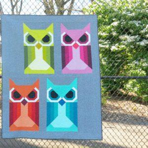 Allie Owl Quilt by Elizabeth Hartman