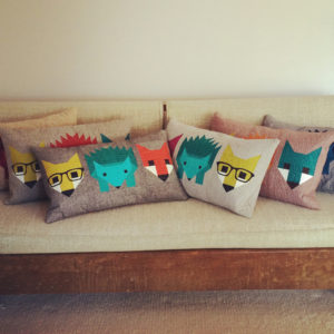 Fox and Hedgehog Pillows