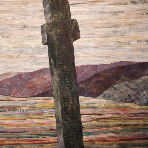 """Carrowmore Monastic Cross North"", 2008, 37"" wide x 60"" high, copyright Denise Labadie"