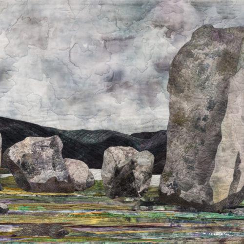 """Uragh Stone Circle"", 2015, 47"" wide x 30"" high, copyright Denise Labadie"