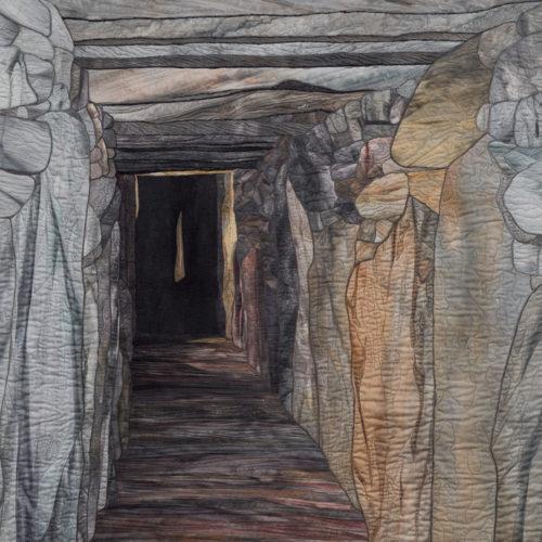"""Passage at Knowth"", 2006, 44"" wide x 61"" high, copyright Denise Labadie"