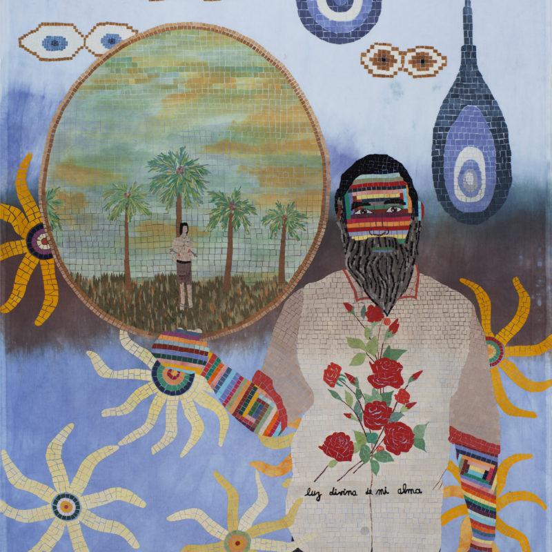 """""""Familia A SeisColores #2"""", Textilemosaic. 1,49 x 1,85 m, copyrightChiachio&Giannone"""