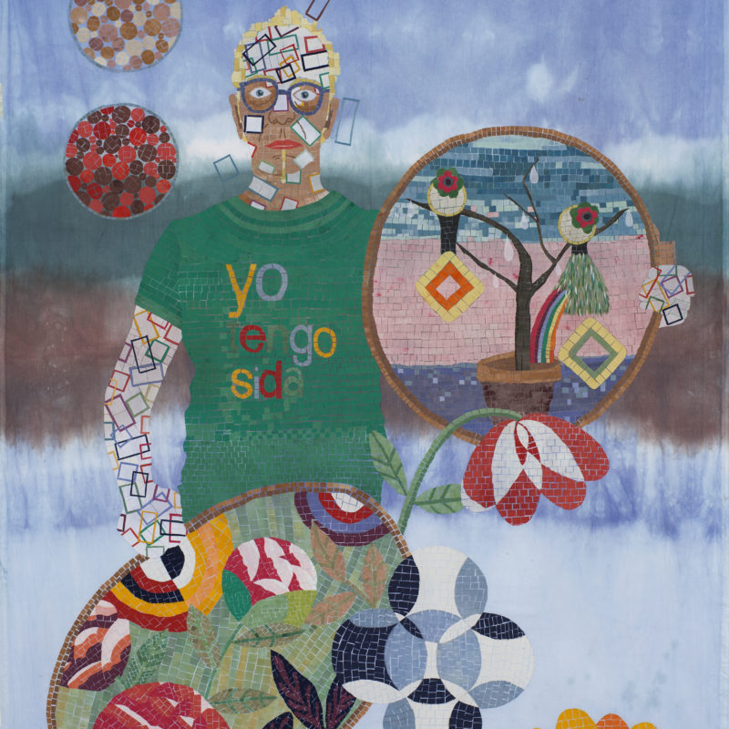 """""""Familia A SeisColores#3"""",Textilemosaic. 1,49 x 1,85 m, copyrightChiachio&Giannone"""