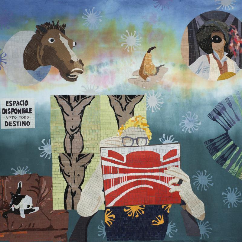 """""""Familia A SeisColores #4"""",Textilemosaic. 1,74 x 1,55 m, copyrightChiachio&Giannone"""