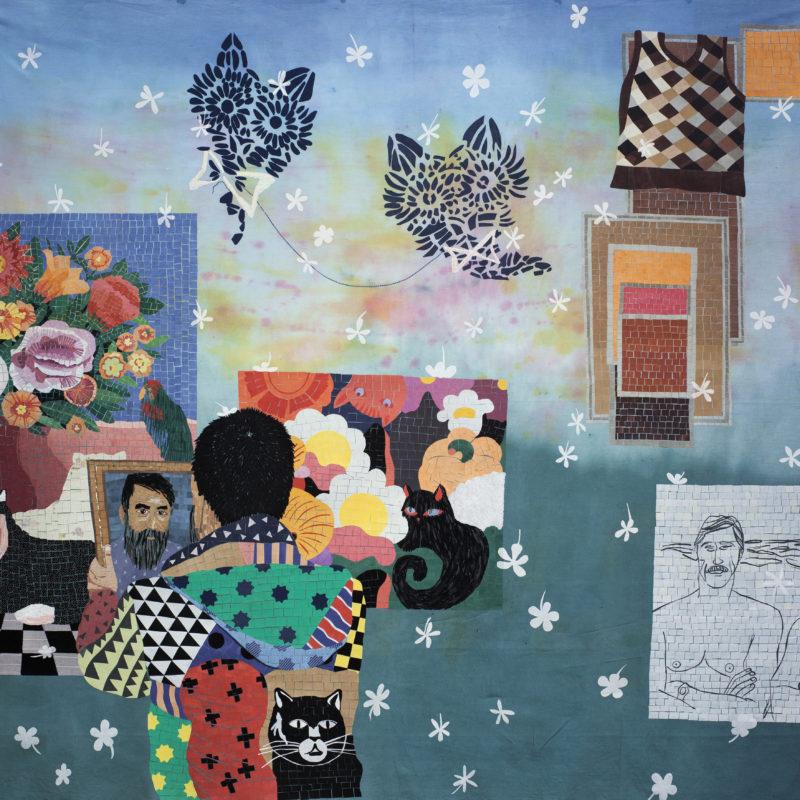 """""""Familia A SeisColores#5"""",Textilemosaic. 1,74 x 1,66 m, copyrightChiachio&Giannone"""