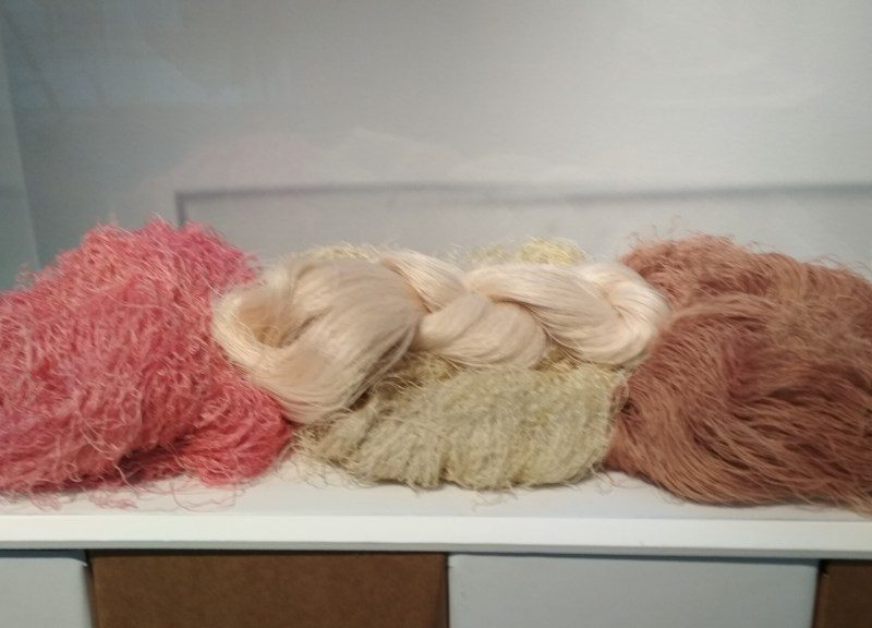 Silk skeins with natural dyes