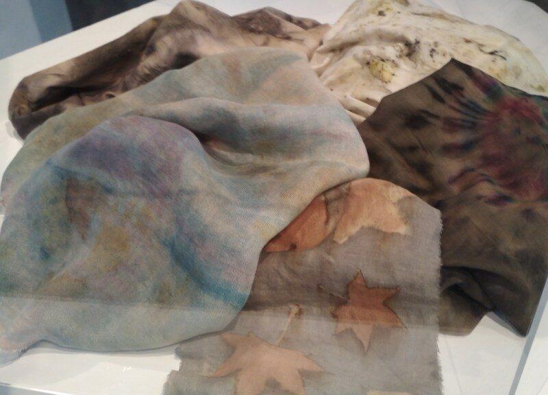 Botanically printed fabricspacions-naturals
