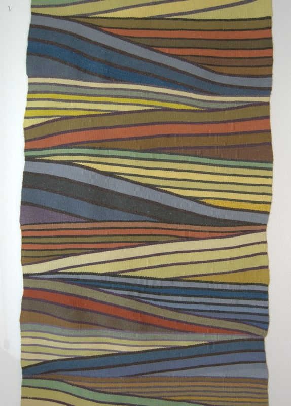 """""""Troubled Water"""", 2010, 71""""x 34"""", wool, Corporate collection, copyright Deborah Corsini"""
