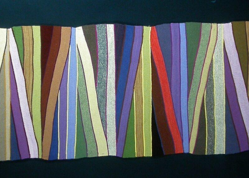 """Wavelength"", 2007, 26""x 70"", wool, Corporate collection, copyright Deborah Corsini"