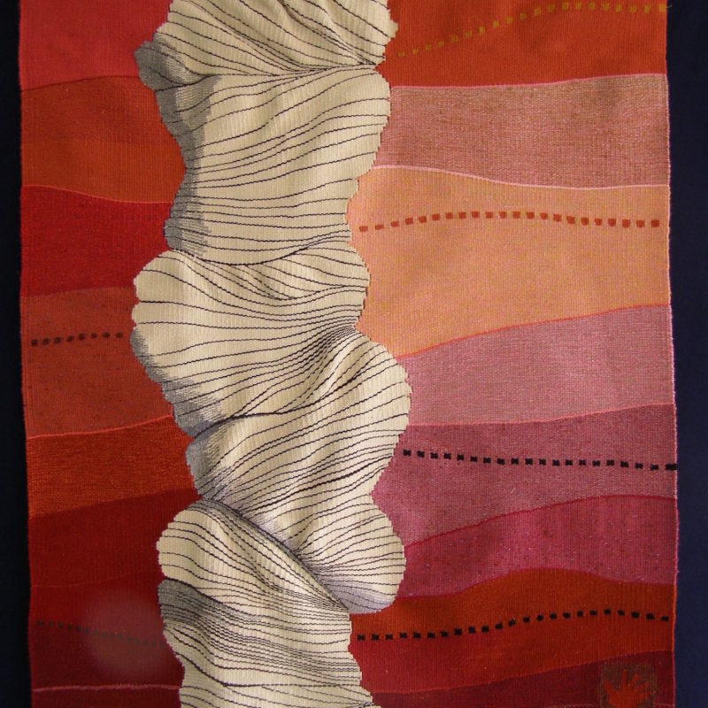 """Fevered Flow"", 10 x 10 "", 25 x 25 cm, 2013, copyright Alex Friedman"