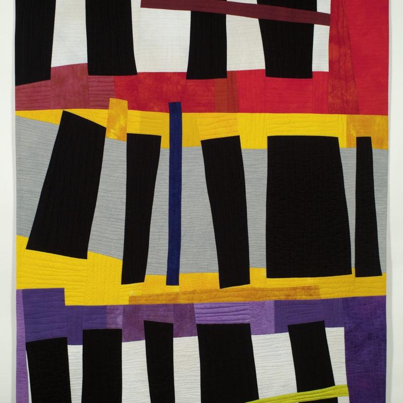 """Black Shapes 2"", 86' X 56', 2010, copyright Karen Schulz"