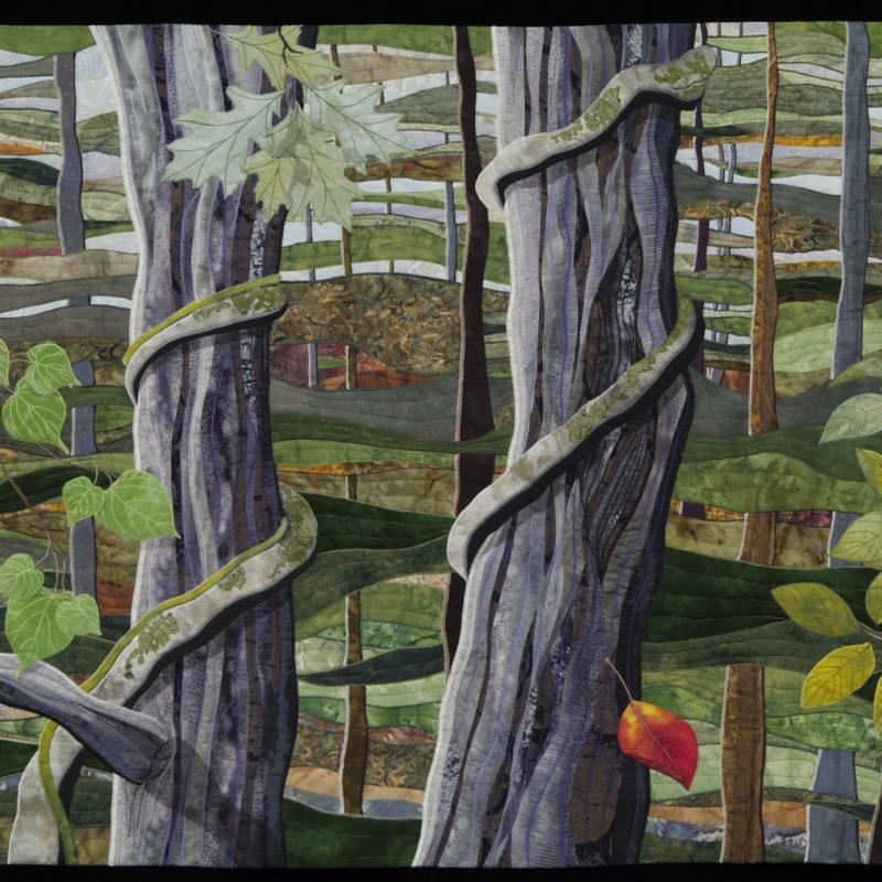 """""""Deep Into Summer"""", First Fall, 36' X 52', 2006, copyright Karen Schulz"""
