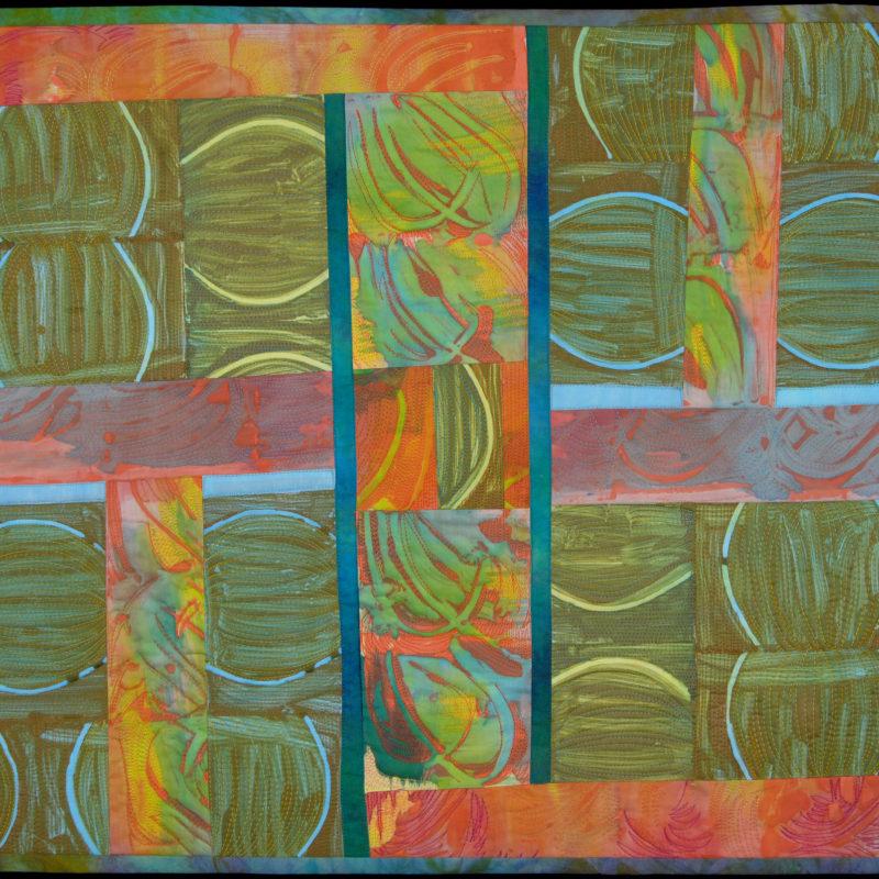 """Melons"", 23' X 25', 2008, copyright Karen Schulz"