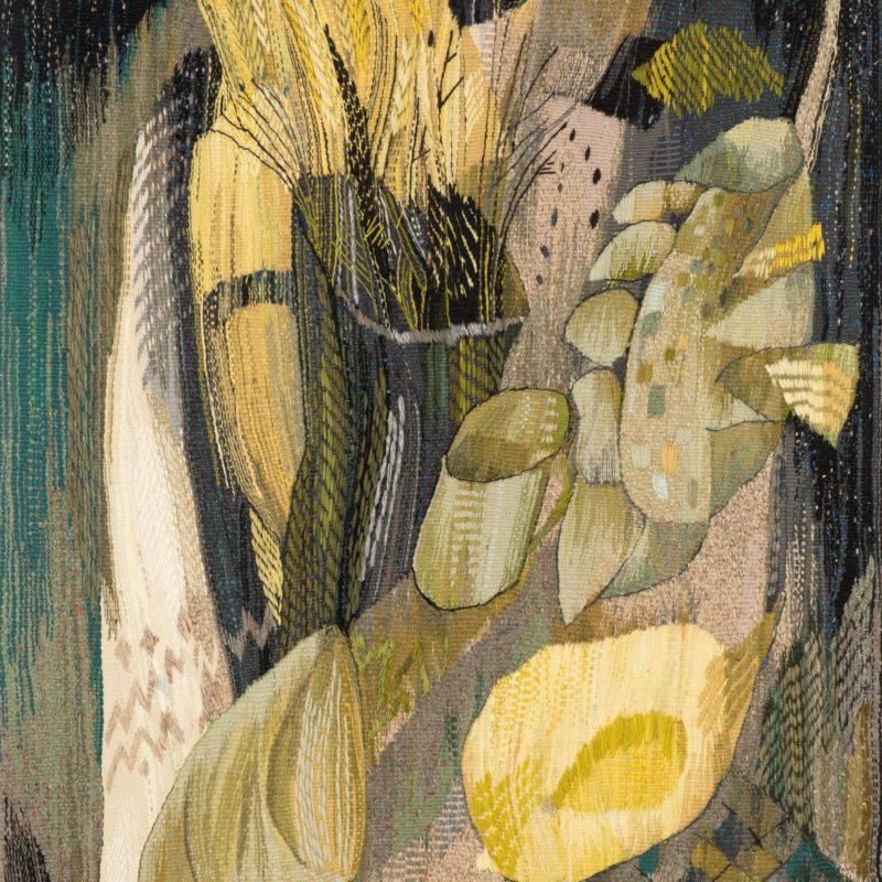 """""""Evening Still Life"""", Wool, artificial fibers, weaving, 127x96, 2003, copyright Tetiana Vytiaglovska"""