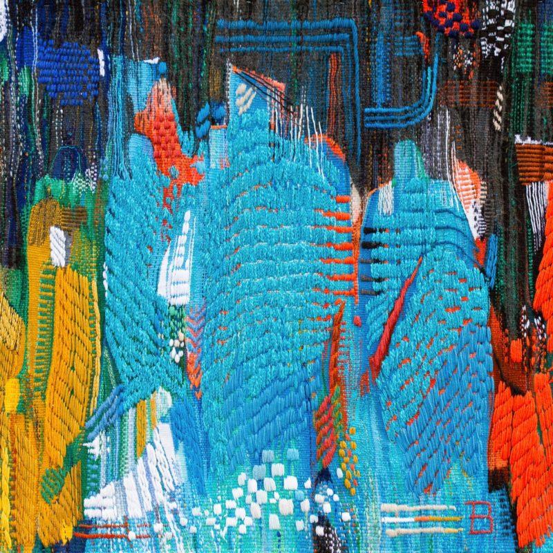 """Beyond the Reality"",Wool, artificial fibers, weaving, 105х142, 2019, copyright tetiana Vytiaglovska"