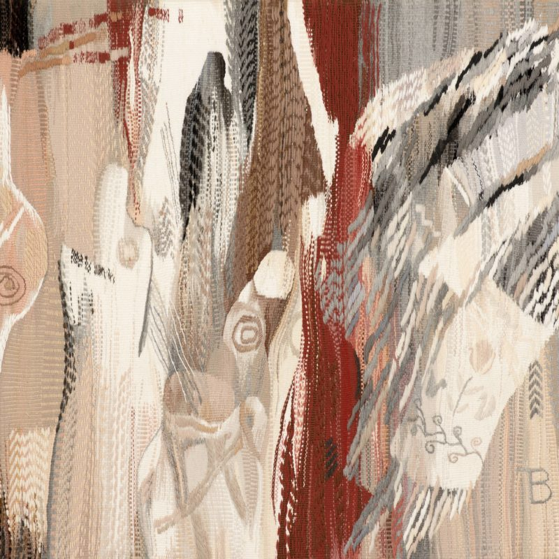 """""""My Misterious Travels After the White Towels"""", diptych, wool, artificial fibers, weaving, 116x51, 116x132, 2009, copyright Tetiana Vytiaglovska"""
