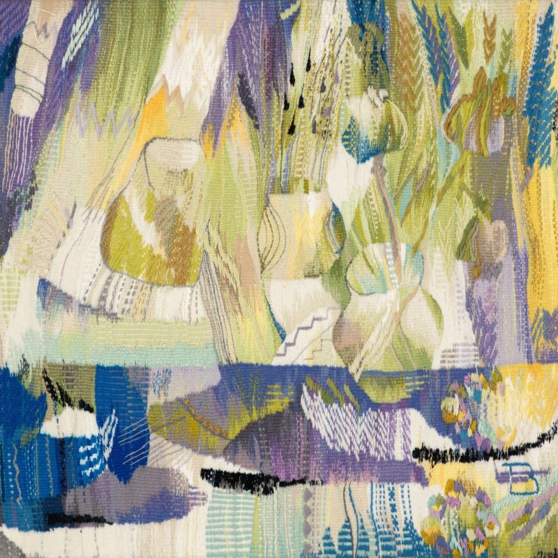 """The Still Life of the Spring"", Wool, artificial fibers, weaving, 110x105, 2013, copyright Tetiana Vytiaglovska"