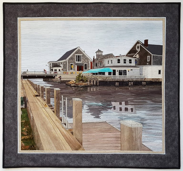 Water Street Bridge Woods Hole, MA 30″ x 28″- Private Collection - © Sue Colozzi