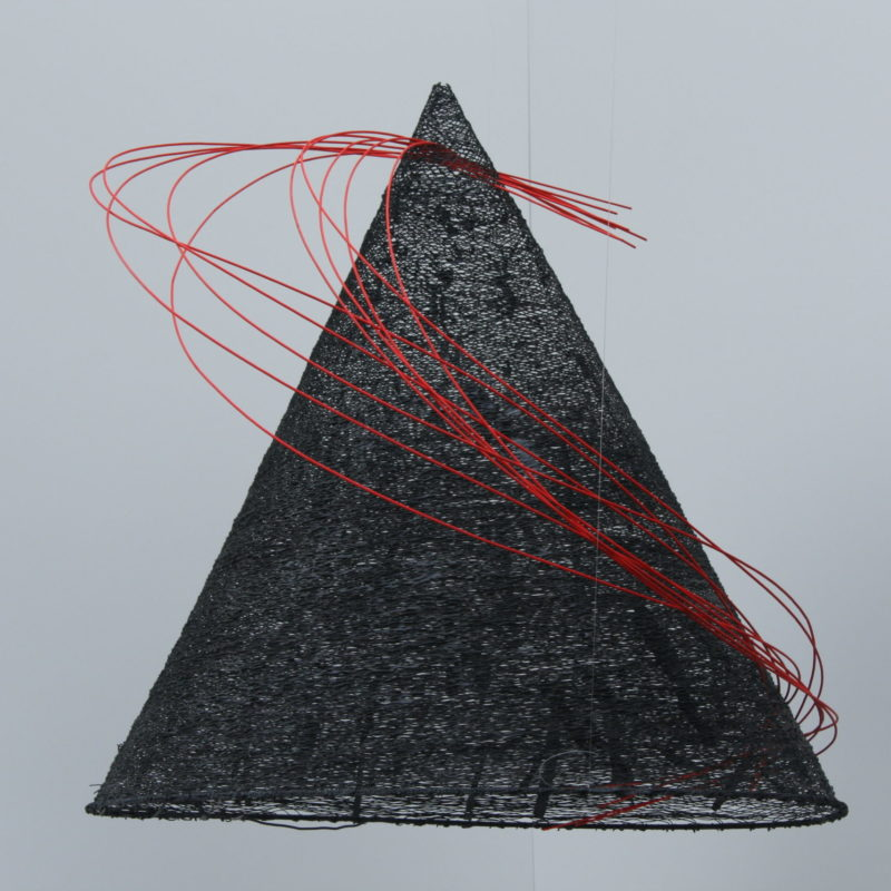 """Zen Conus"", 2007, 80 x 85 cm, Paper yarn and wicker, copyright Annie Verhoeven"