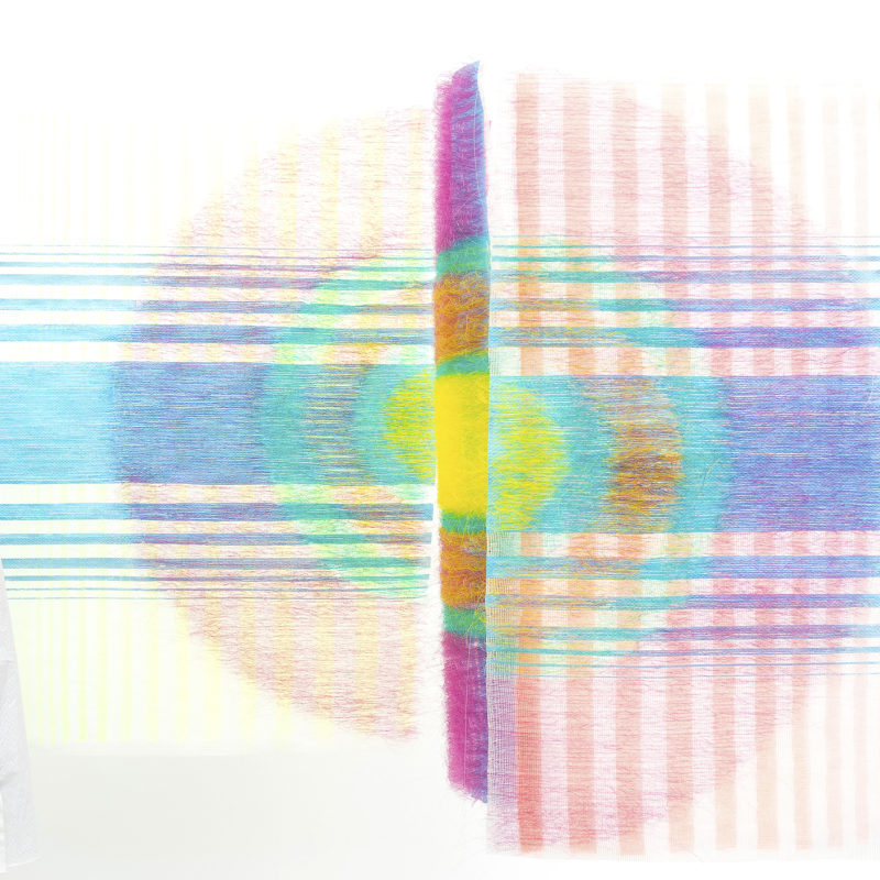 """Distinct Connection"", 2017, Triptych 80x100/70x100/80x100 cm, copyright Agata Ciechomska"