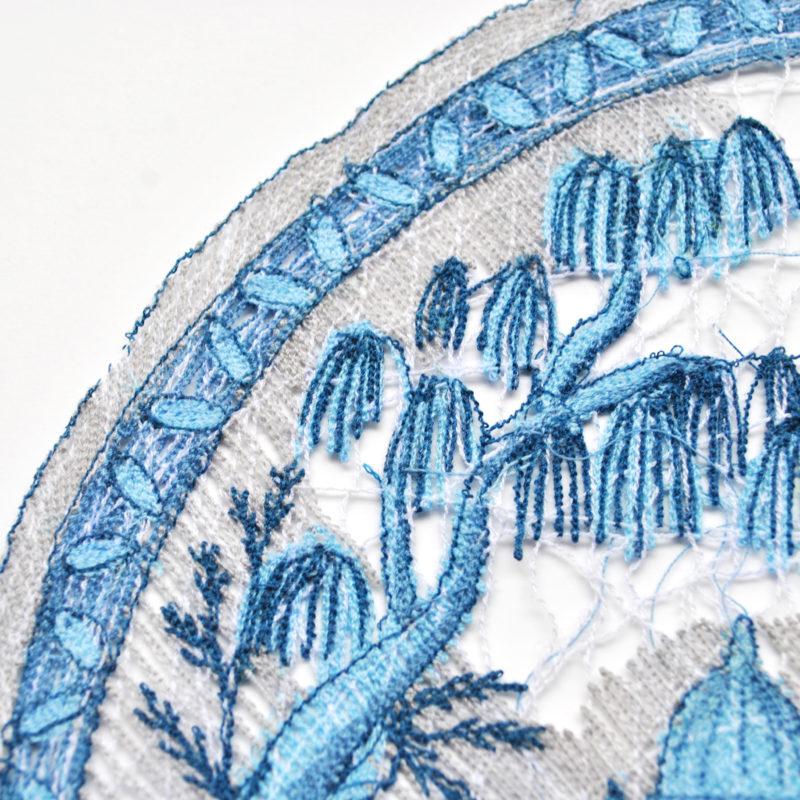 """Plates-detail"", 2017, 12"" x 12"", Thread, Machine Embroidery, Photo Amanda McCavour, copyright Amanda McCavour"