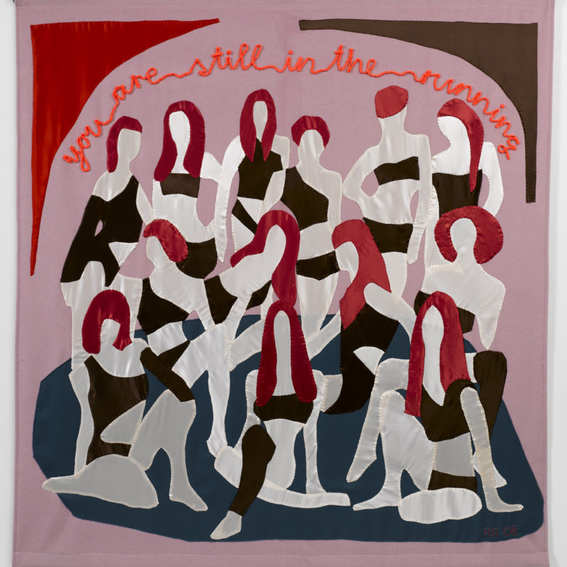 """You Are Still in The Running"", 2008, wool, cashmere, silk, yarn, and other materials, ten handsewn wall hangings 170 x 150 cm, copyright Hanne G."