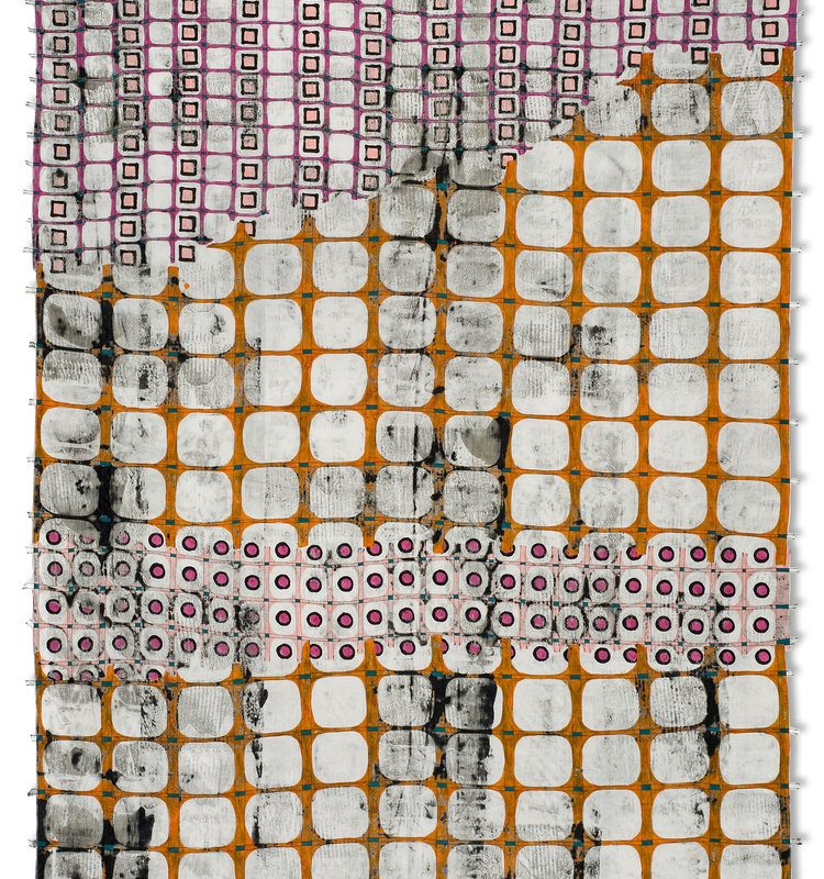 """""""The Fence As Lace #1"""", 48"""" x 66"""", 2011, copyright Jeanne Williamson Ostroff"""