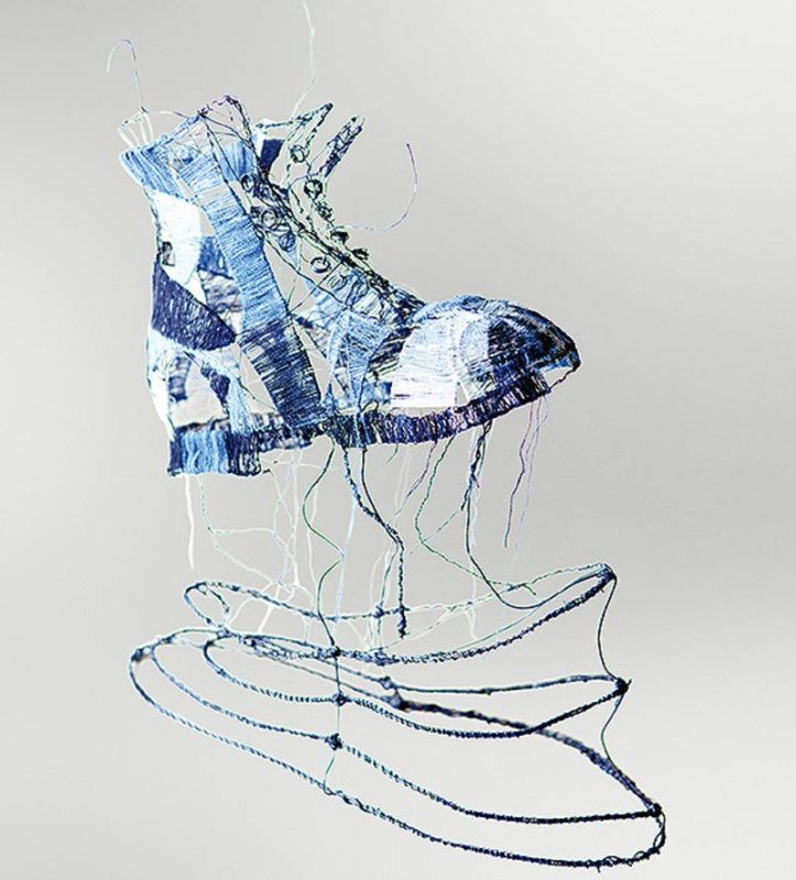 Sculpture Footsteps of Denim, Artist/Lender: Artworks & Denim by Anna Weber, Germany, 2020, Photo: Juan Pablo Berman
