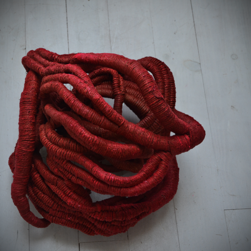 """Red Bow II"", 2008, 55 x 45 x 50 cm, copyright Aude Franjou"