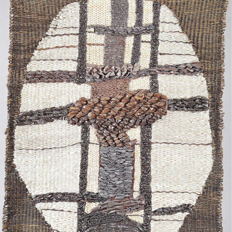 Omaggio a Munari 1, 1963. Sisal, pvc, cm130 x110