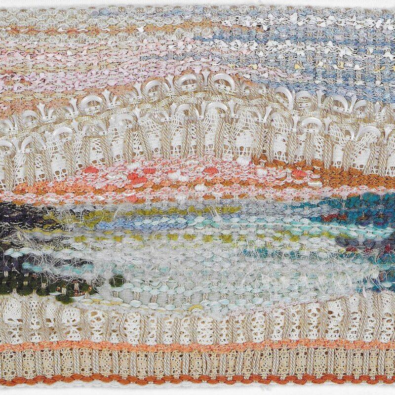 Venice Bridge, 2005, wool, silk, cotton, mechanical lace, 24 x 39 cm