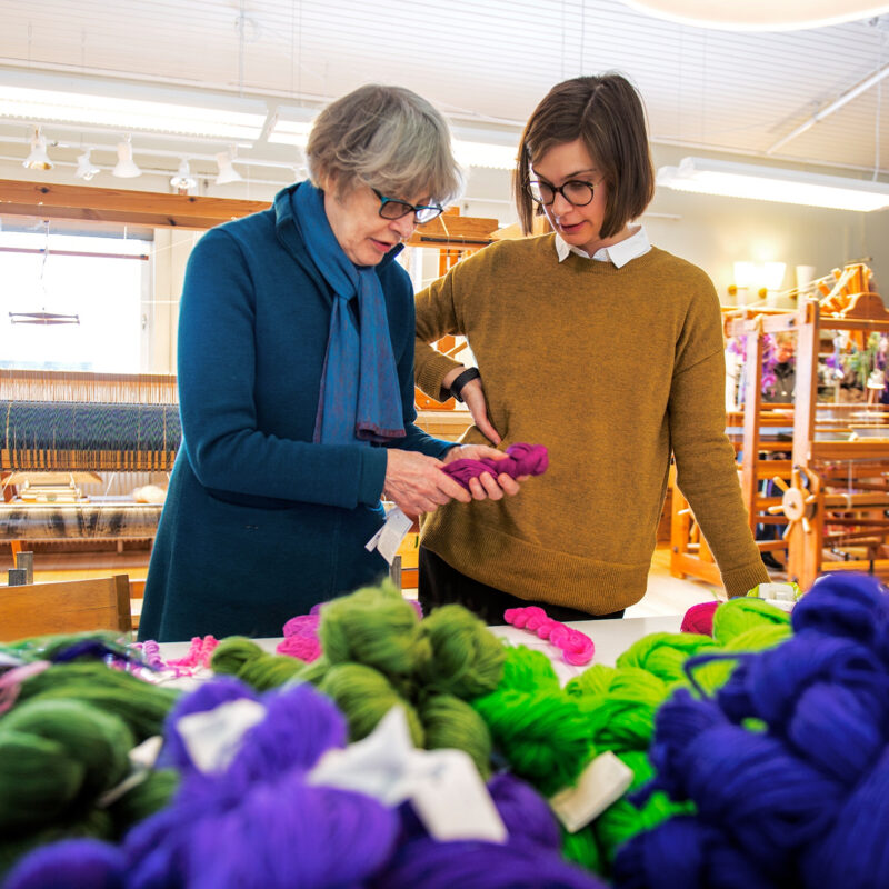 Yarn at Atelier with Helena and Frida. Photo Pär K. Olsson, copyright Helena Hernmanrck