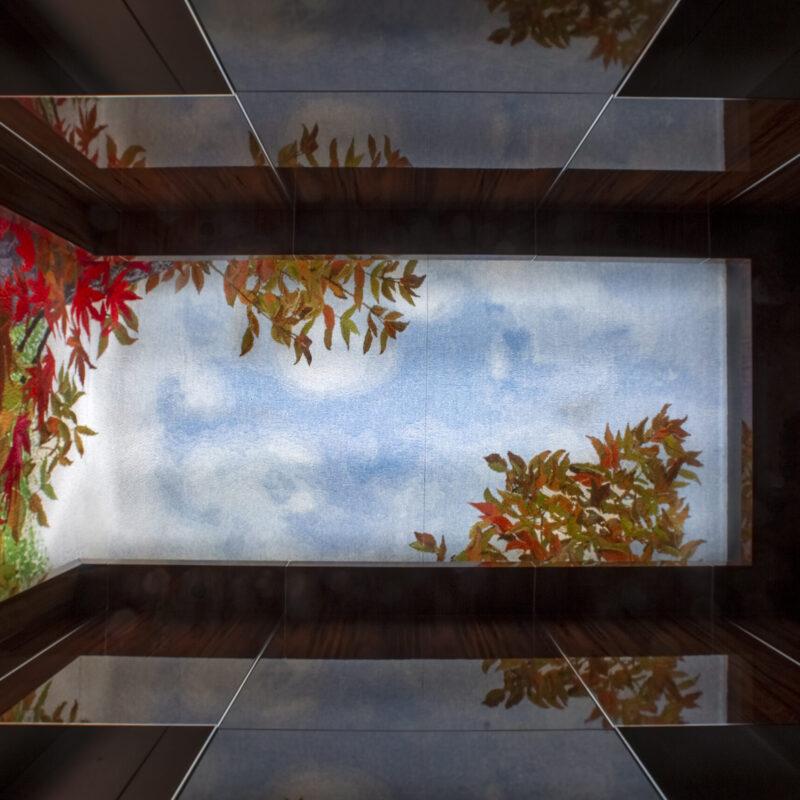 """Maple Tree"" installed, photo Norman McGrath, copyright Helena Hernmarck"