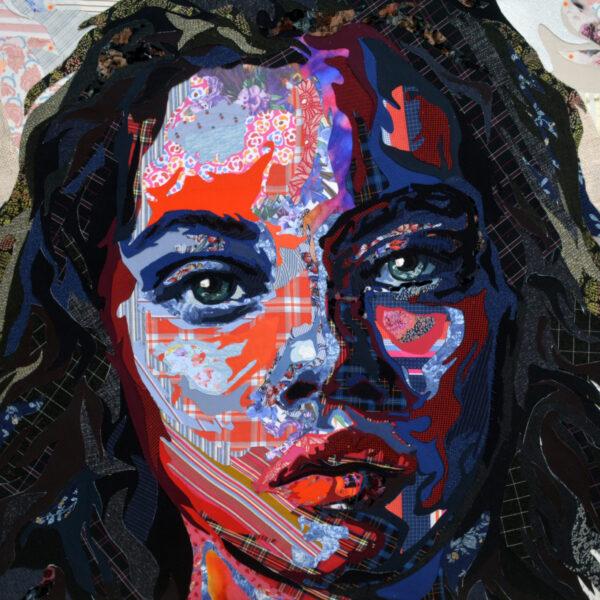 """""""Newyorker"""", 2018, cutting fabric on canvas, 150x200 cm, ph. Credit Deniz Sağdıç Studio, copyright Deniz Sağdıç"""