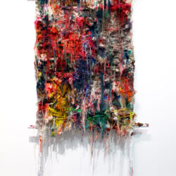 FOTO 10 Unravel 3 - 2012 - Acrylic, Yarn and Tree branches - 216 x 127 cm