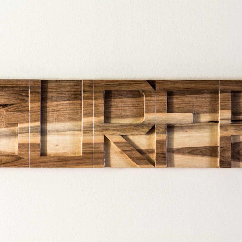 Stefano Boccalini, 2020, La ragione nelle mani – Gurfa, legno intagliato, 30 x 105 x 4 ©Christian Tasso