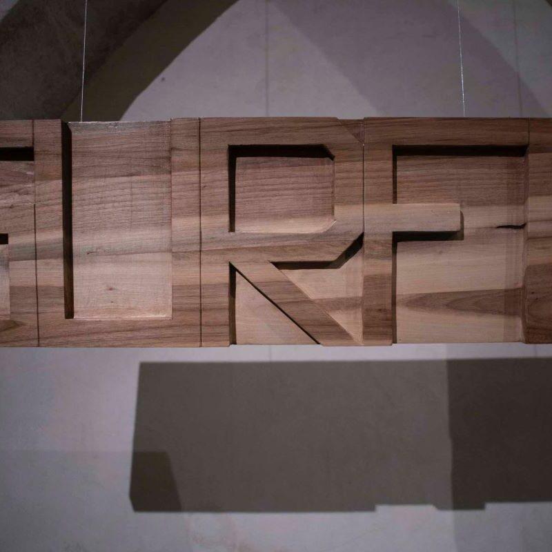 Stefano Boccalini, 2020, La ragione nelle mani – Gurfa, woven wood, 90 x 400 x 92©Christian Tasso
