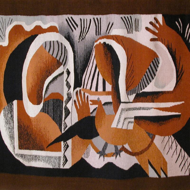 Lilita Postaža (1941-2011). Mujeres con el pájaro/ Women with a Bird. 1978