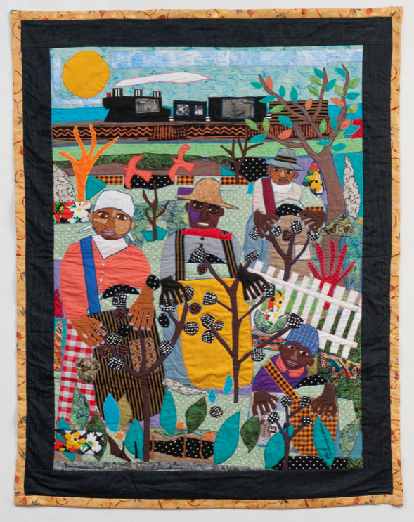 Michael Cummings (b. 1945) - Mecklenburg County, N.C., 2008 -Cotton/blends, dye fabric, buttons - On loan courtesy of the artist