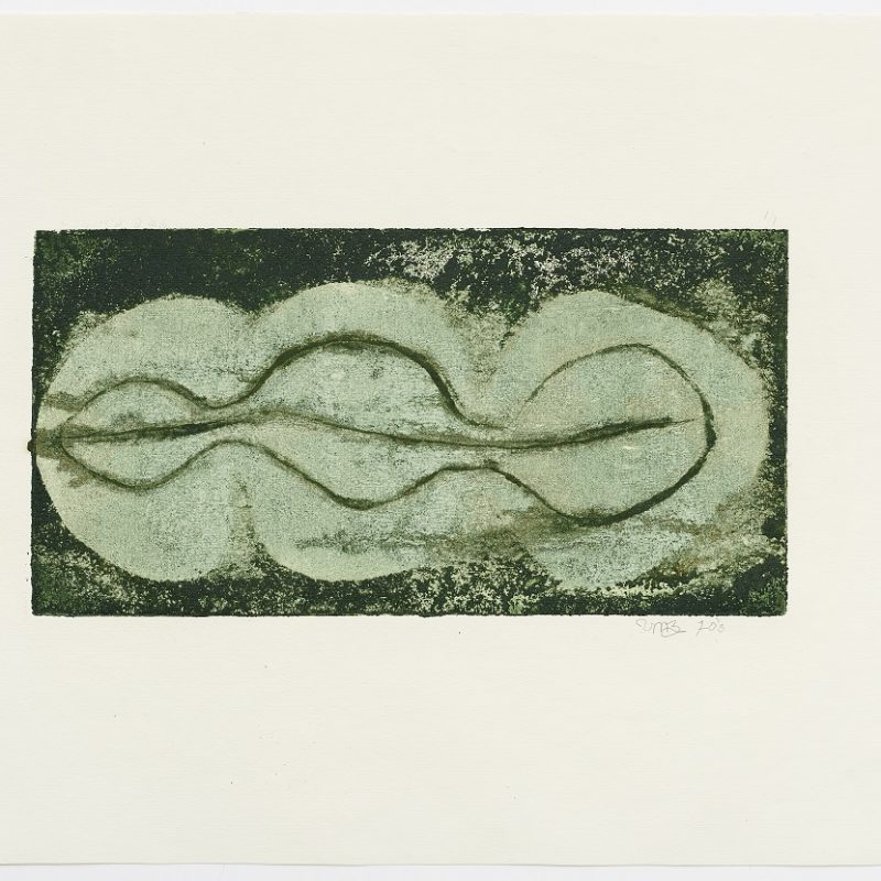 Untitled. 1970. Engraving. 13 x 19 inches (33 x 48.3 cm) Edition 1/1. Courtesy Henrique Faria New York