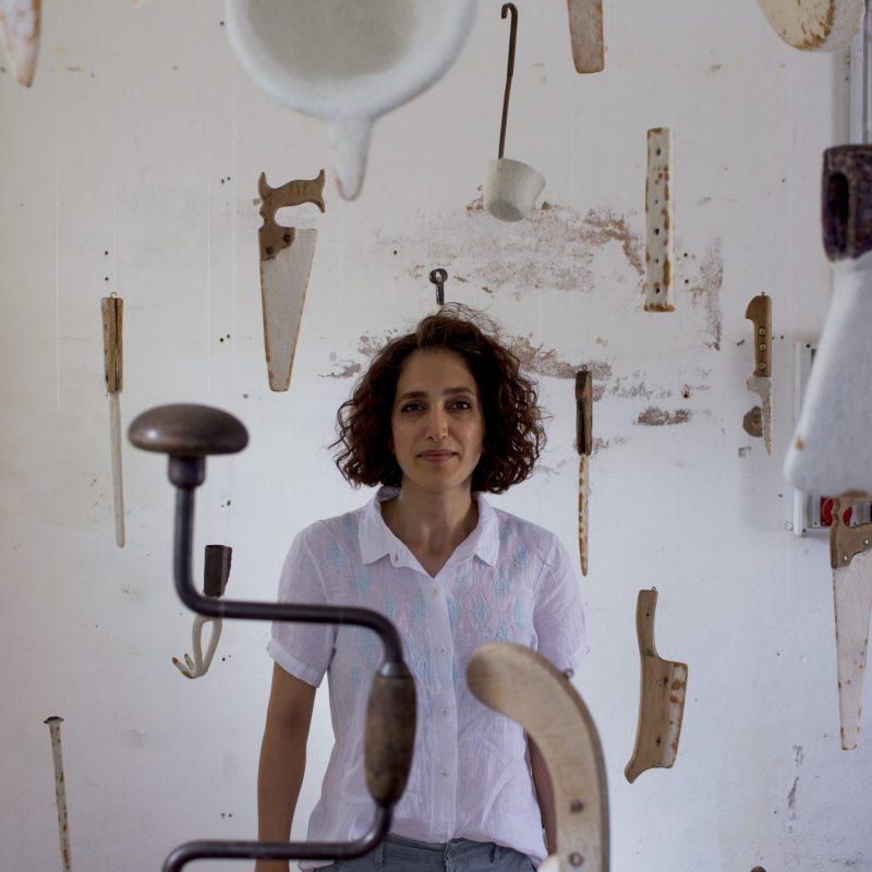 Segni di resistenza II, wool, felt, tools of oxidizable material, , 200*200*200, 2021, photo cr. Gaia Rocca