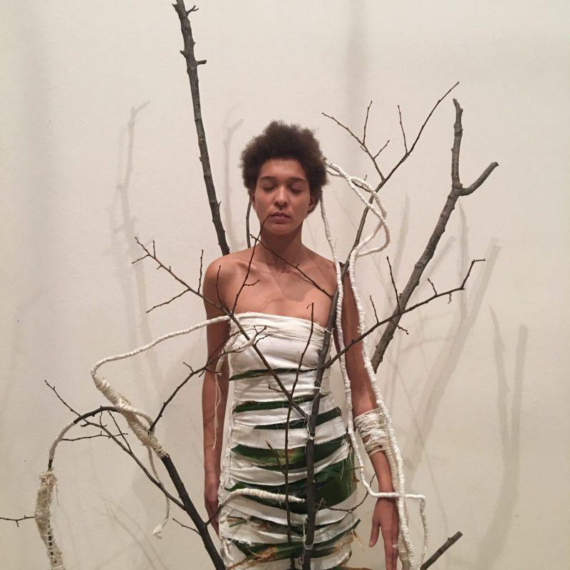"""Performance-installazione tessile """"Nature"""" - performance presso La Triennale di Milano 2017/2018"""