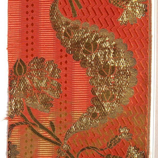 AS 101, lampasso, fondo gros lanciato broccato, 1760 -1770, Lione, Francia, Venezia, Italia
