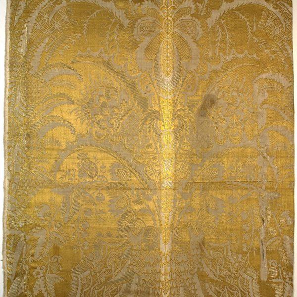 AS 212, lampasso, fondo damasco broccato, 1690 - 1710, Venezia, Italia