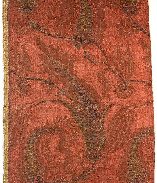 AS 69, damasco broccato, 1700 - 1712, Lione, Francia, Venezia, Italia