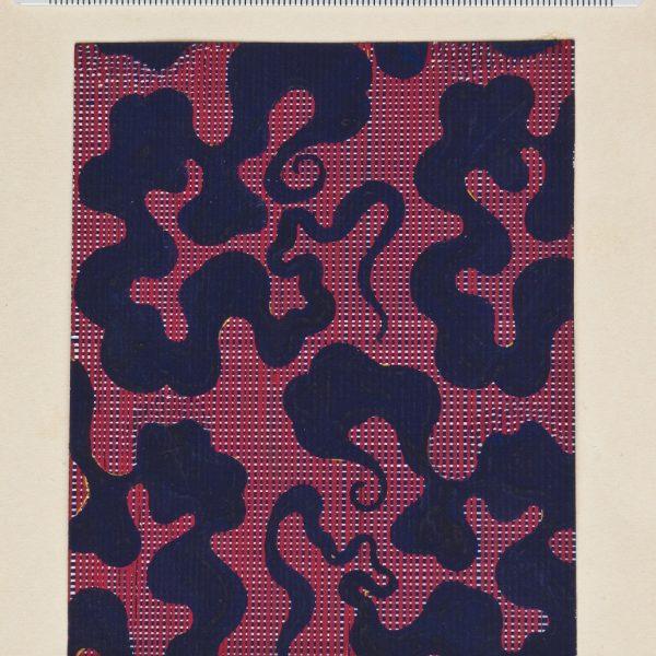 DS 127, disegno per cravatta, pittura su carta, 1934 - 1939